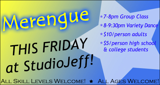 Merengue This Friday!